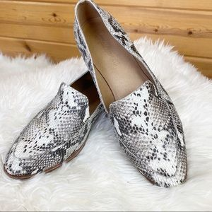 Madewell snakeskin leather loafers shoes flats 7